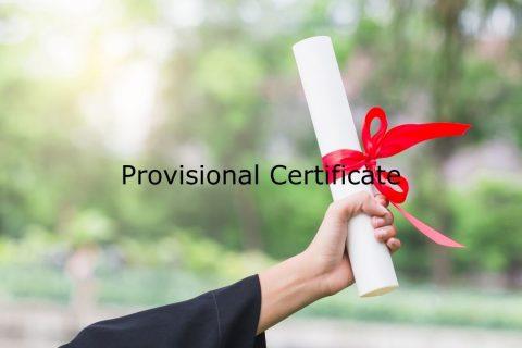Provisional Certificate